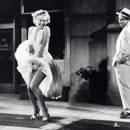 Marilyn Monroe and Tom Ewell on the set of Seven Year Itch