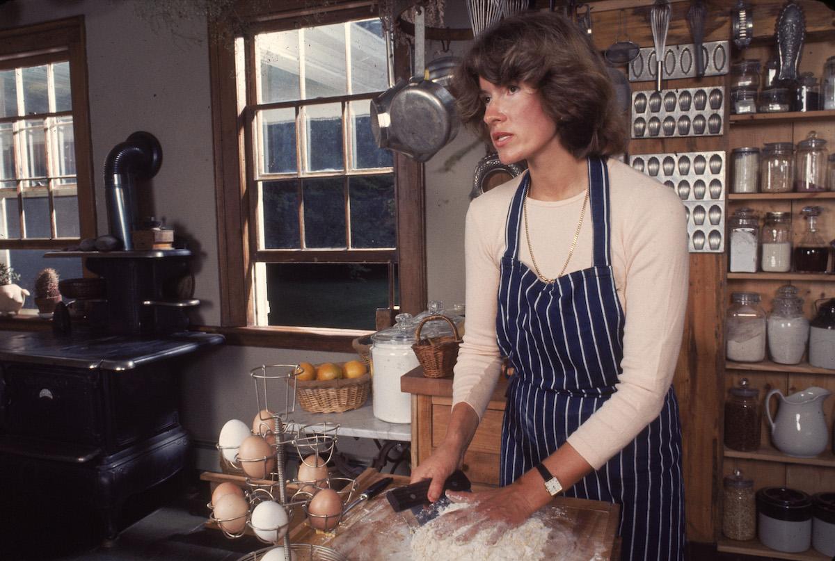 Martha Stewart baking in 1976.