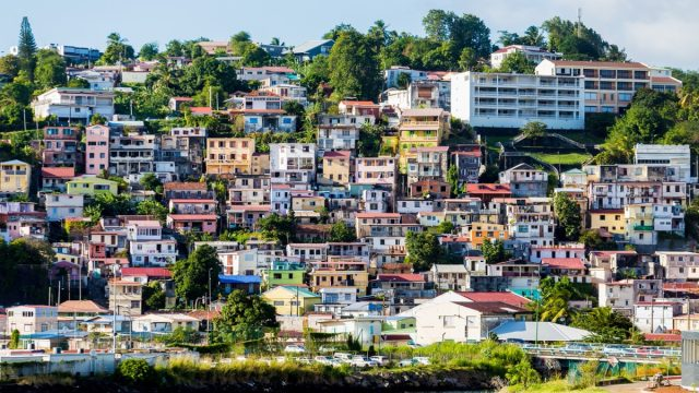 Many,Colorful,Buildings,On,The,Coast,Of,Martinique
