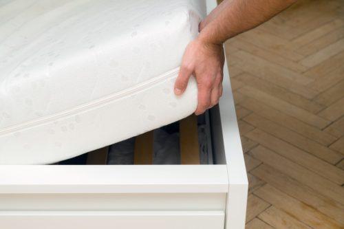 Checking out a mattress