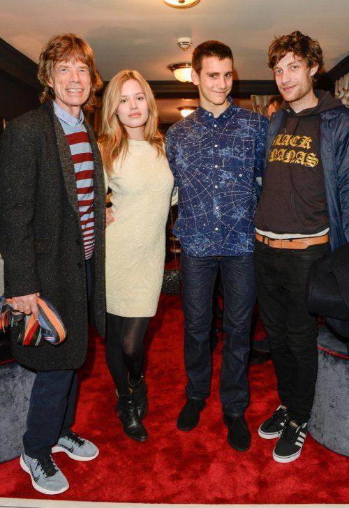 Mick Jagger, Georgia May Jagger, Gabriel Jagger and James Jagger in 2011