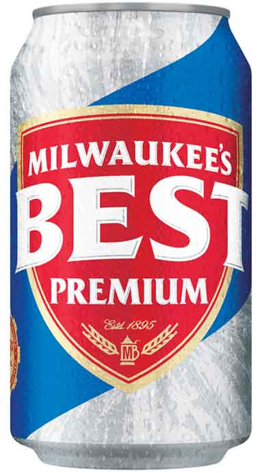 can of milwaukee's best beer on white background