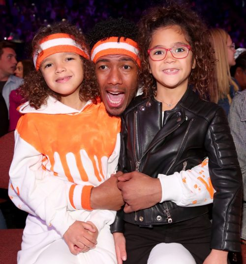 Nick Cannon, Moroccan Cannon, and Monroe Cannon in 2018