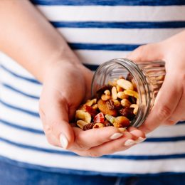 Handful of assorted nuts