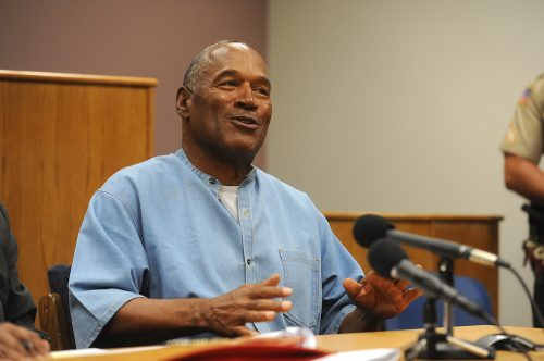 O.J. Simpson at his parole hearing in 2017