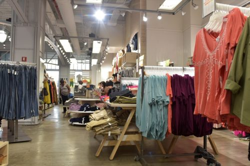 07/15/2016, USA, NEW YORK CITY:: inside of Old Navy store in New York. Old Navy is an American clothing and accessories retailer owned by American multinational corporation Gap Inc.