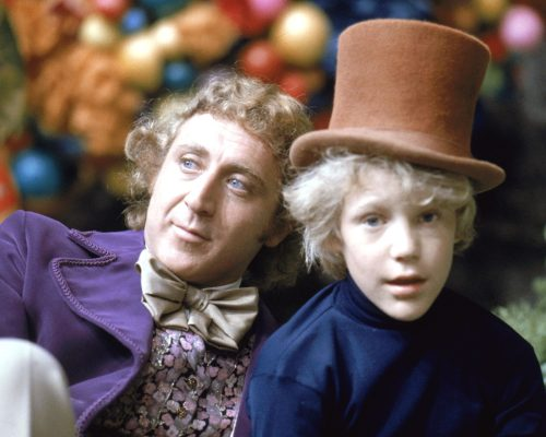 """Peter Ostrum on set of """"Willy Wonka and the Chocolate Factory"""" in 1971"""