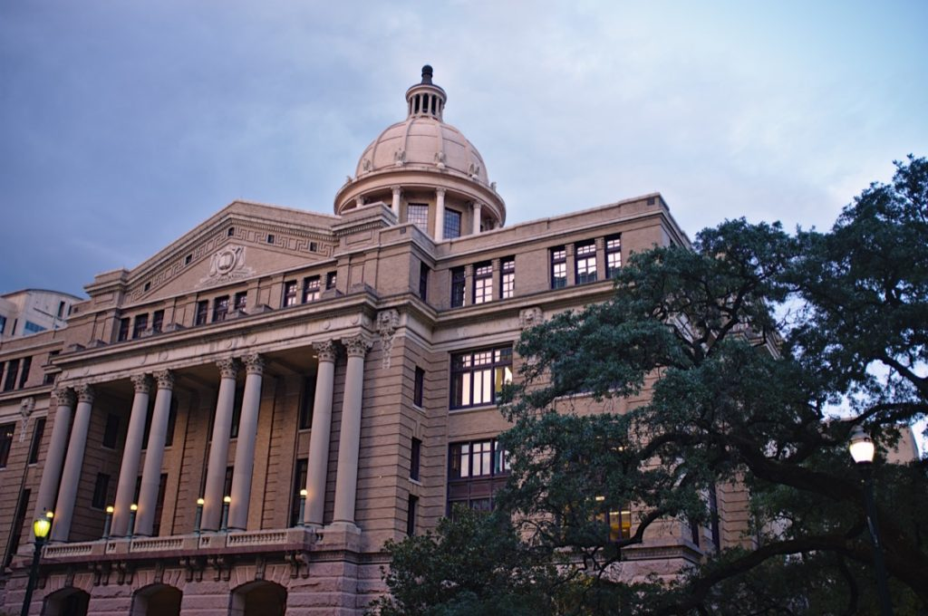 Harris County court house in Texas