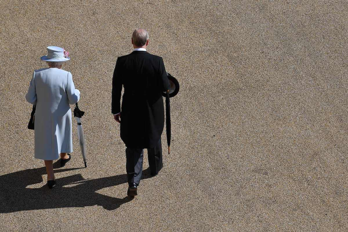 Britain's Queen Elizabeth II (L) and Britain's Prince Andrew, Duke of York, (R) on May 21, 2019.