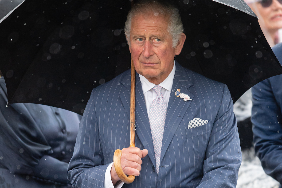 Prince Charles, Prince of Wales attends the dedication ceremony of The National UK Police Memorial at The National Memorial Arboretum on July 28, 2021 in Stafford, England.