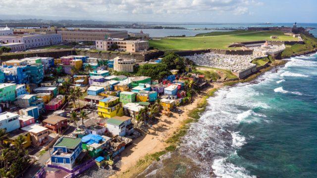 An aerial view of San Juan, Puerto Rico