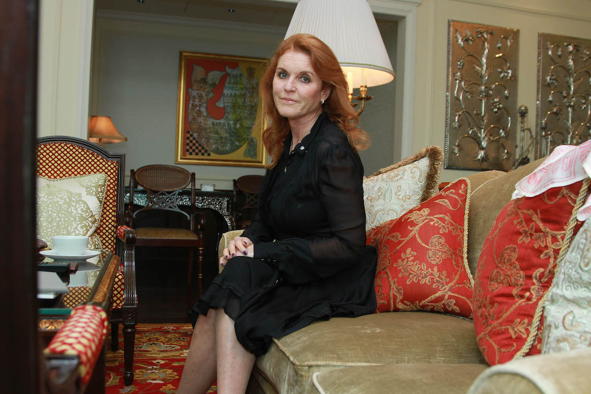 Sarah Ferguson, Duchess of York, during an exclusive interview for HT City-Hindustan Times, at Hotel Leela on November 7, 2015 in New Delhi, India.