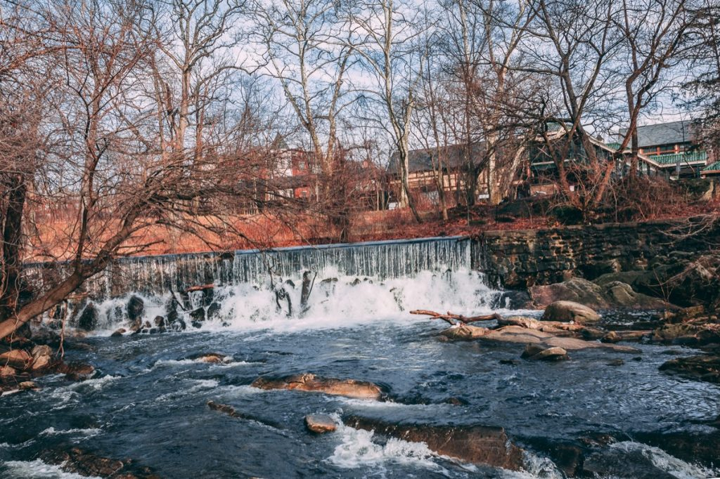 Scarsdale Falls in Scarsdale, New York