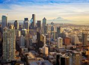 The skyline of Seattle, Washington