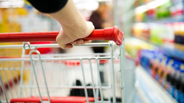 Closeup,Of,Woman,With,Shopping,Cart.