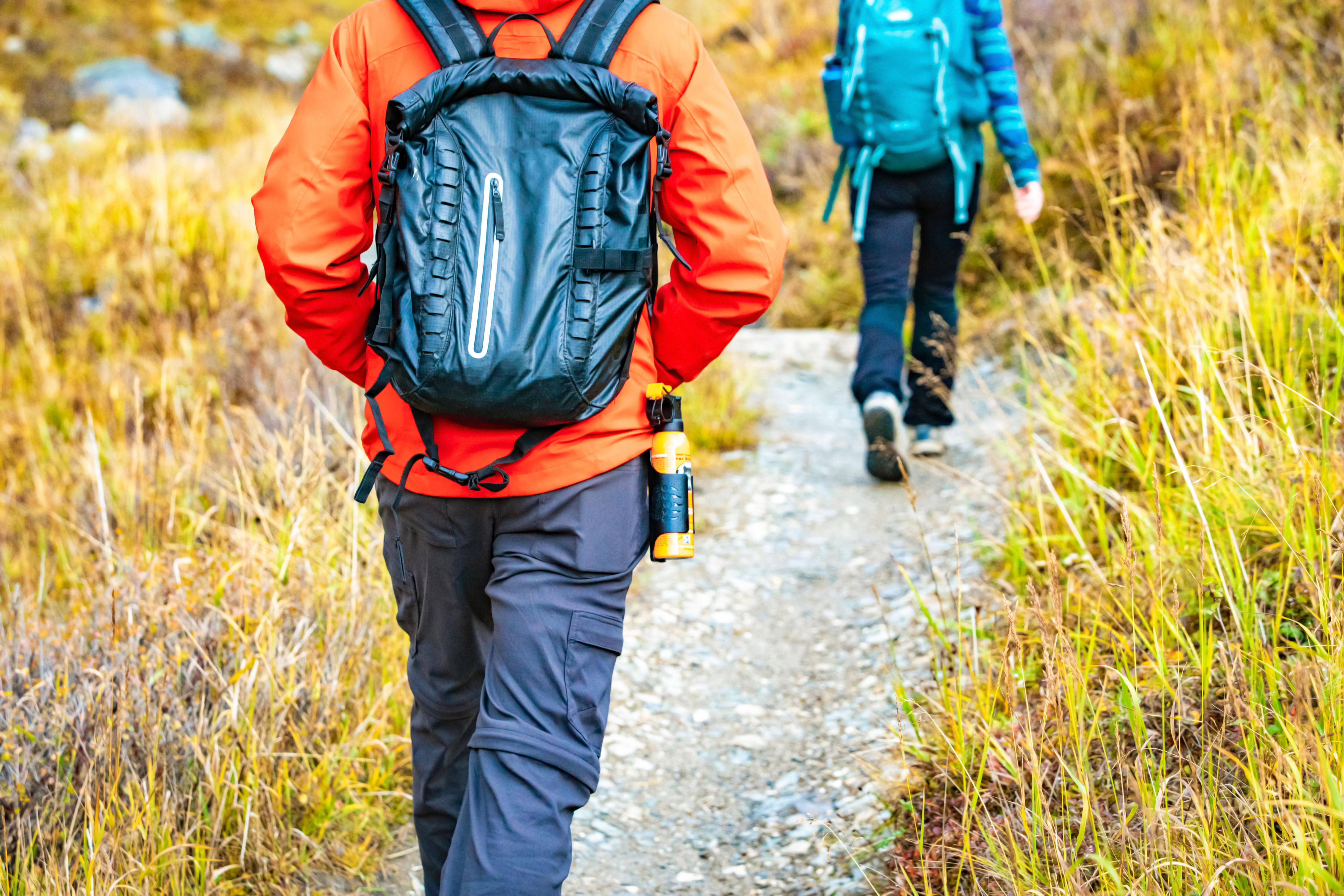 Hikers with bear spray
