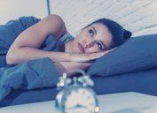 Woman can't sleep at night
