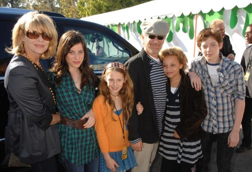 Kate Chapsaw, Steven Spielberg, and their kids in 2007
