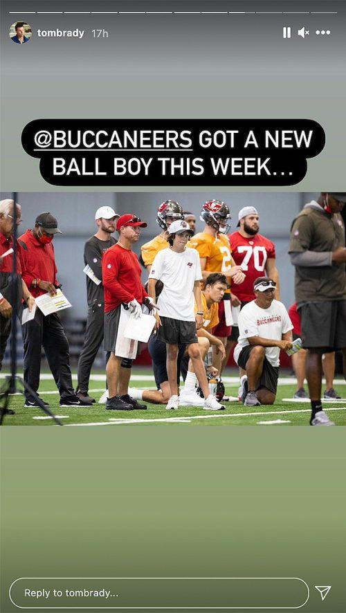 Tom Brady's son Jack at Buccaneers training camp