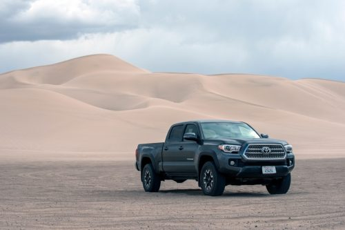 Toyota Tacoma off the road and in the dessert