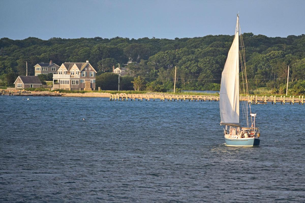 Sailboat on Vineyard Haven Harbor Martha's Vineyard Massachusetts