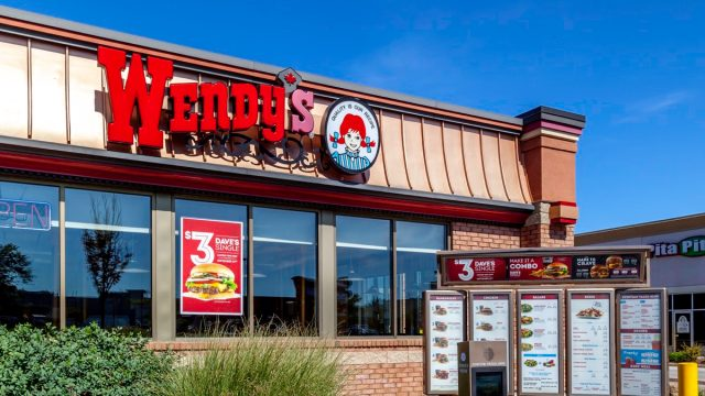 St. Catharines, Ontario, Canada - September 19, 2019: One of the Wendy's restaurant in St. Catharines; Wendy's is an American international fast food restaurant chain.