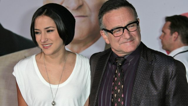 """Zelda and Robin Williams at the premiere of """"Old Dogs"""" in 2009"""