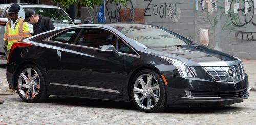 a 2016 black Cadillac ELR car outside
