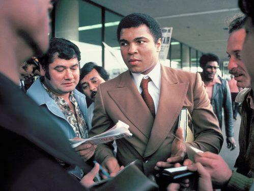 Muhammad Ali at the San Antonio, Texas airport in 1979