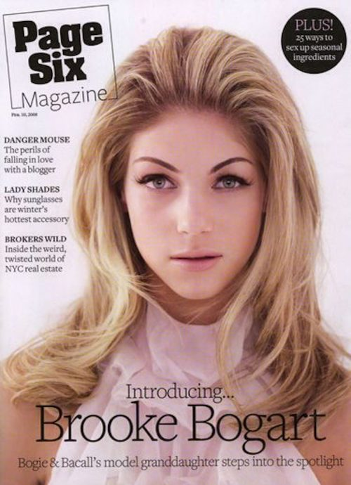"""Brooke Bogart on the cover of """"Page Six Magazine"""" in 2008"""