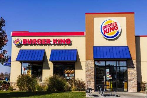 the exterior of a Burger King restaurant