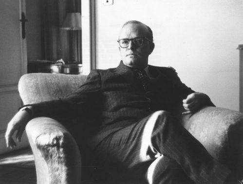 Truman Capote in Milan in 1966