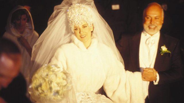 Céline Dion and Réne Angélil at their December 1994 wedding