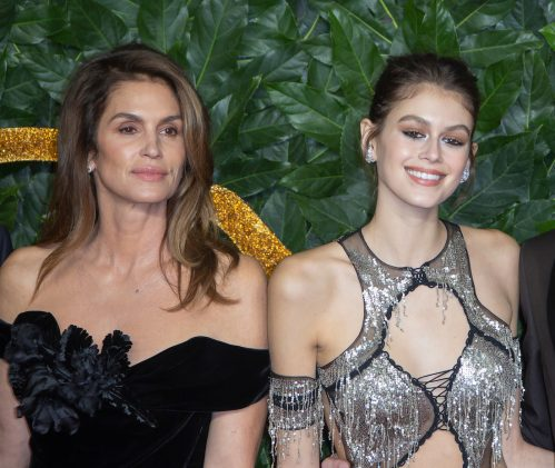 Cindy Crawford and Kaia Gerber at The Fashion Awards 2018 in London