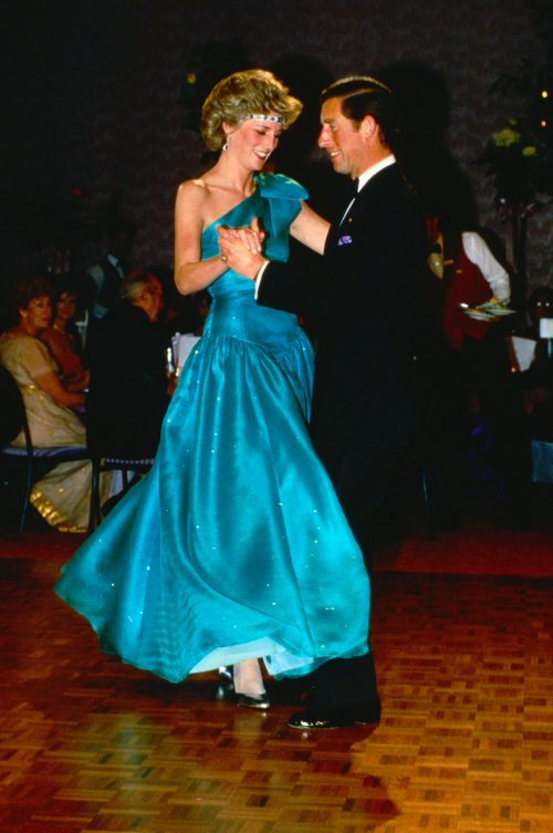 Princess Diana and Prince Charles dancing in 1980