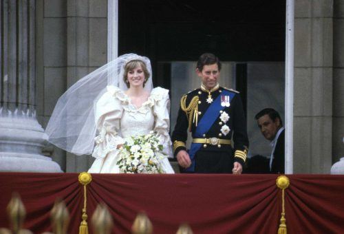 Princess Diana and Prince Charles on their wedding day in January 1981