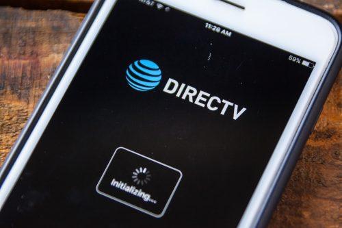 DirecTV app on phone screen