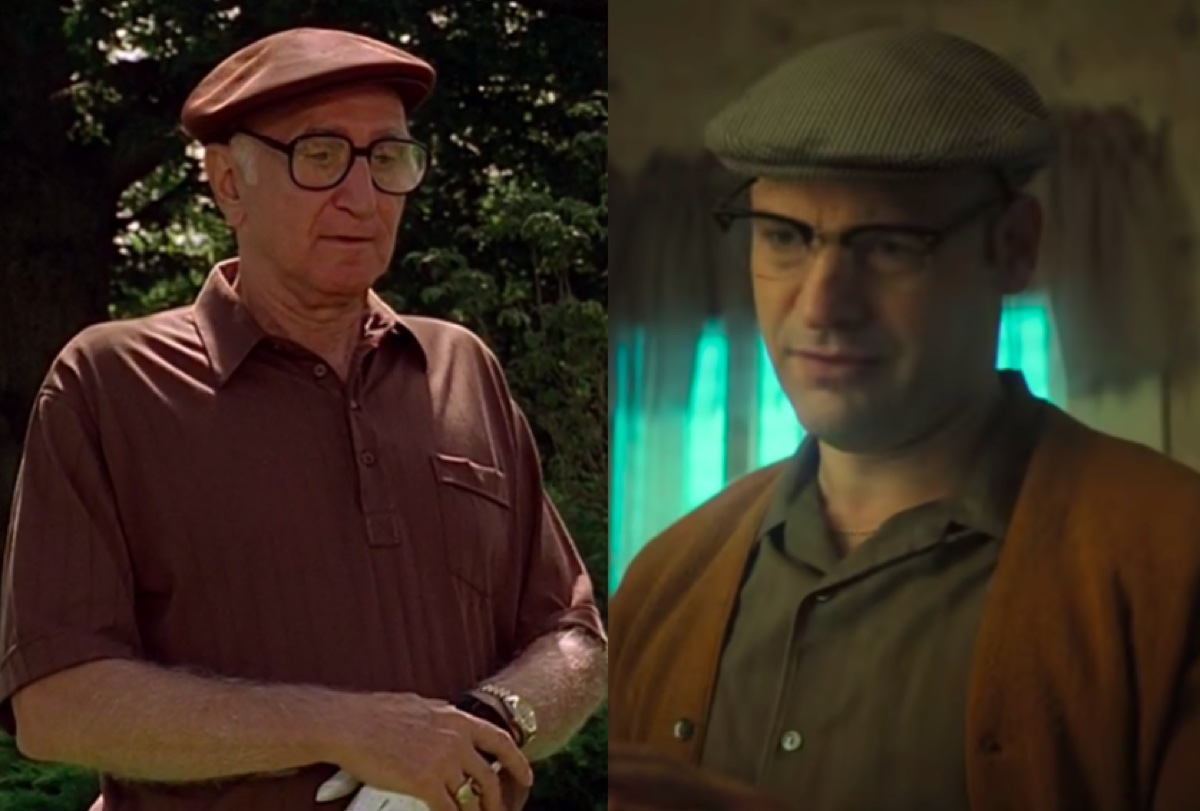 Dominic Chianese in The Sopranos and Corey Stoll in The Many Saints of Newark