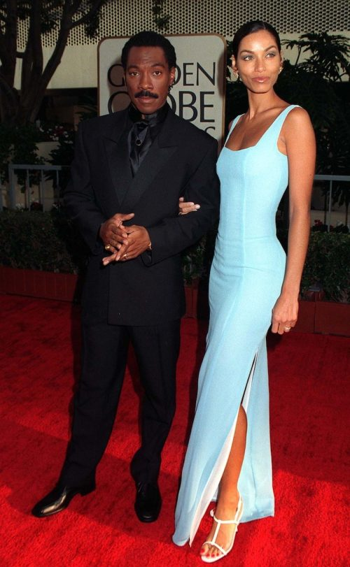 Eddie Murphy and Nicole Mitchell at the 1997 Golden Globe Awards