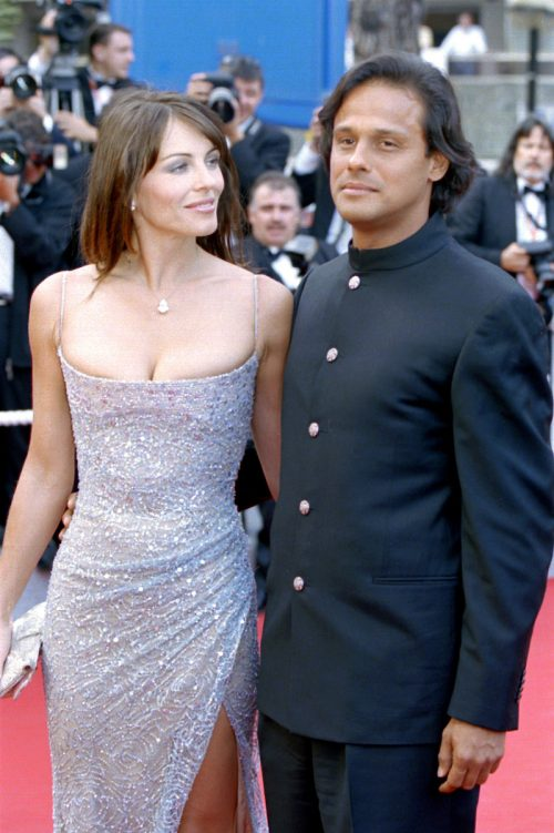 Elizabeth Hurley and Arun Nayar at the Cannes Film Festival in May 2003