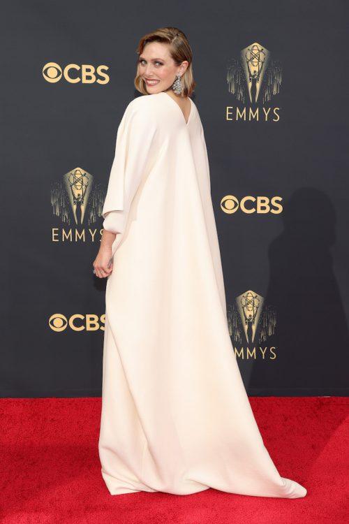 Elizabeth Olsen at the Emmys in September 2021