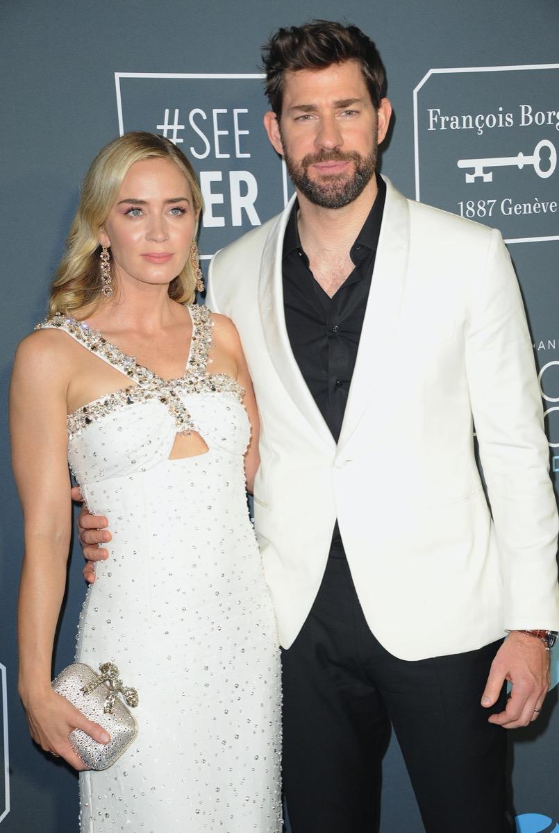Emily Blunt and John Krasinski in 2019