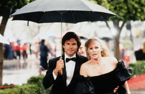 Harry Hamlin and Ursula Andress at the 1982 Oscars