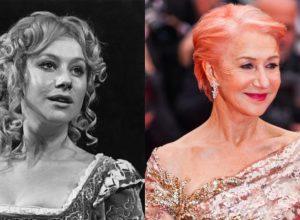 Helen Mirren then and now