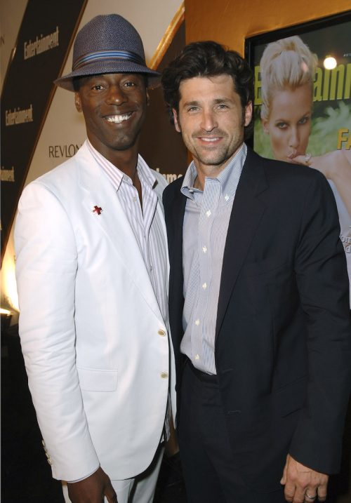 Isaiah Washington and Patrick Dempsey at an Entertainment Weekly Emmys party in 2005