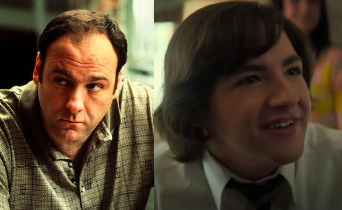 James Gandolfini in The Sopranos and Michael Gandolfini in The Many Saints of Newark