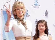 Jane Fonda and granddaughter Viva Vadim at her hand and footprint ceremony at the TCL Chinese Theatre in April 2013