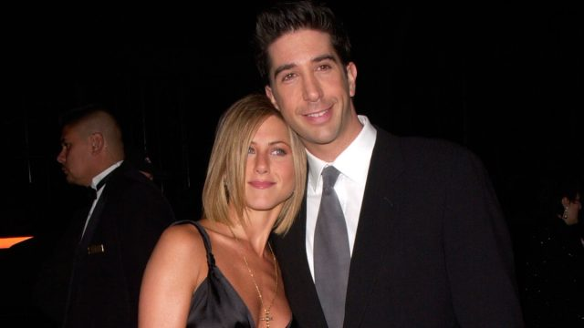 Jennifer Aniston and David Schwimmer at the 2001 People's Choice Awards