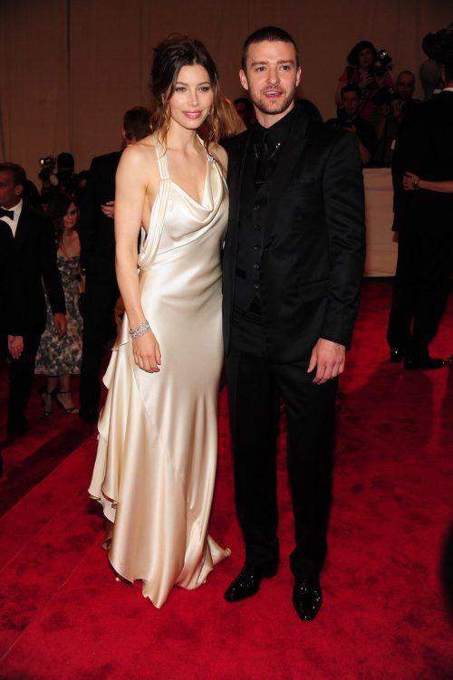 Jessica Biel and Justin Timberlake at the 2010 Met Gala