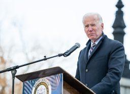 Joe Biden speaking in Columbia, South Carolina in January 2020